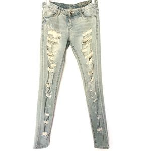 BLANK NYC Distressed Skinny Jeans Size 26 US 4